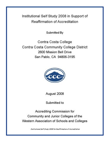 2008 Accreditation Self Study by Contra Costa College - issuu