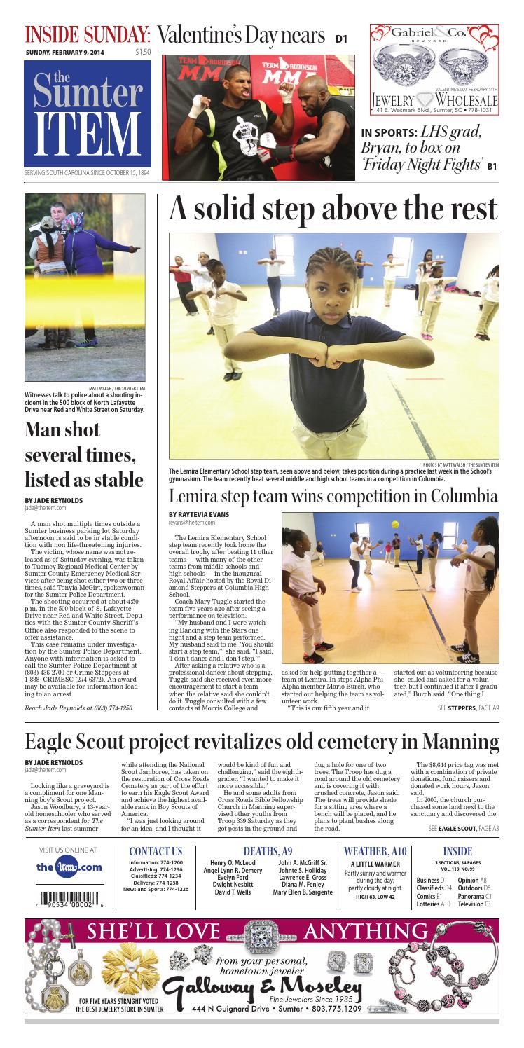February 9 2014 By The Sumter Item Issuu Led Chaser Rookie Electronics Robotics Projects