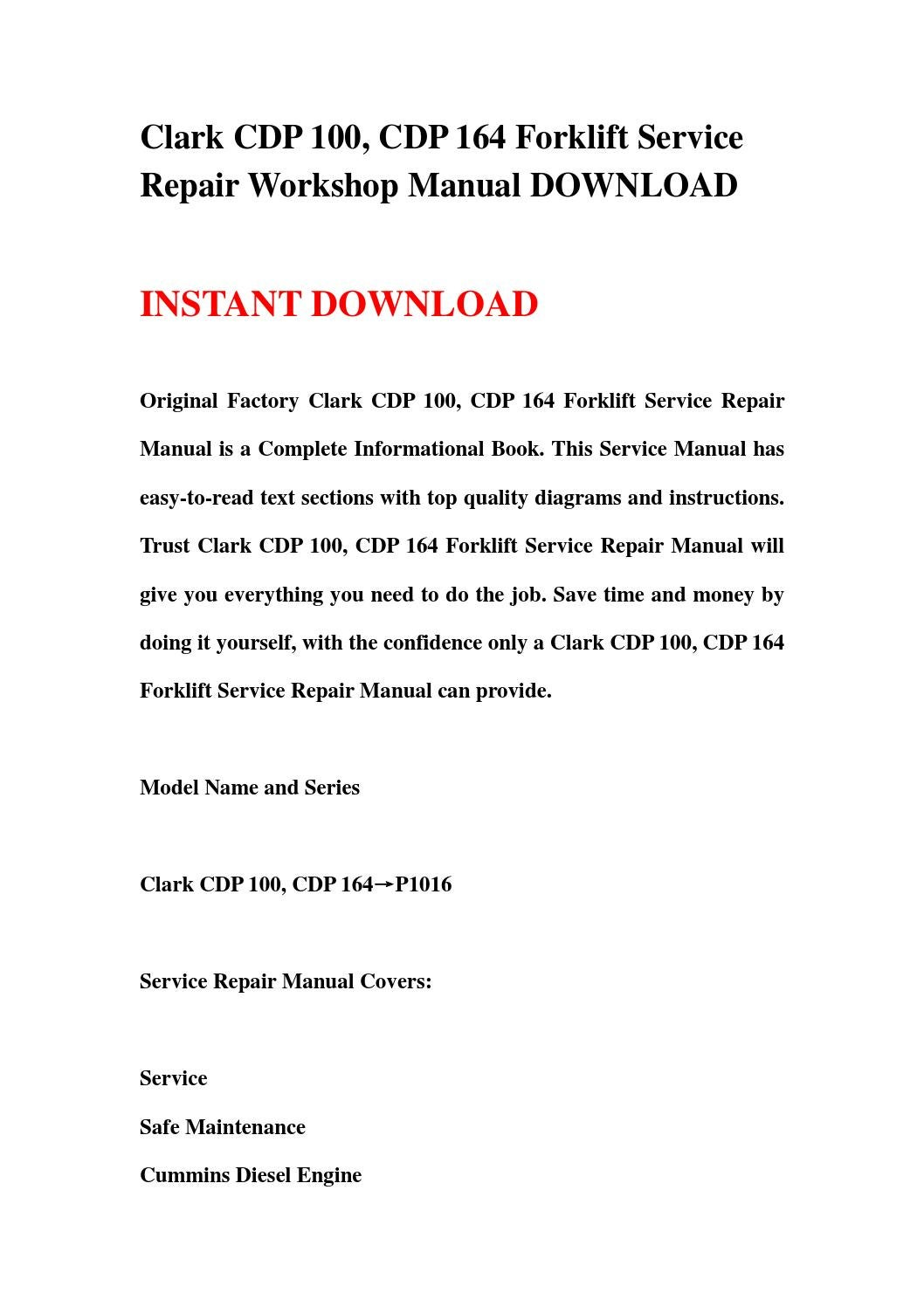 Download model 164 Service Manual