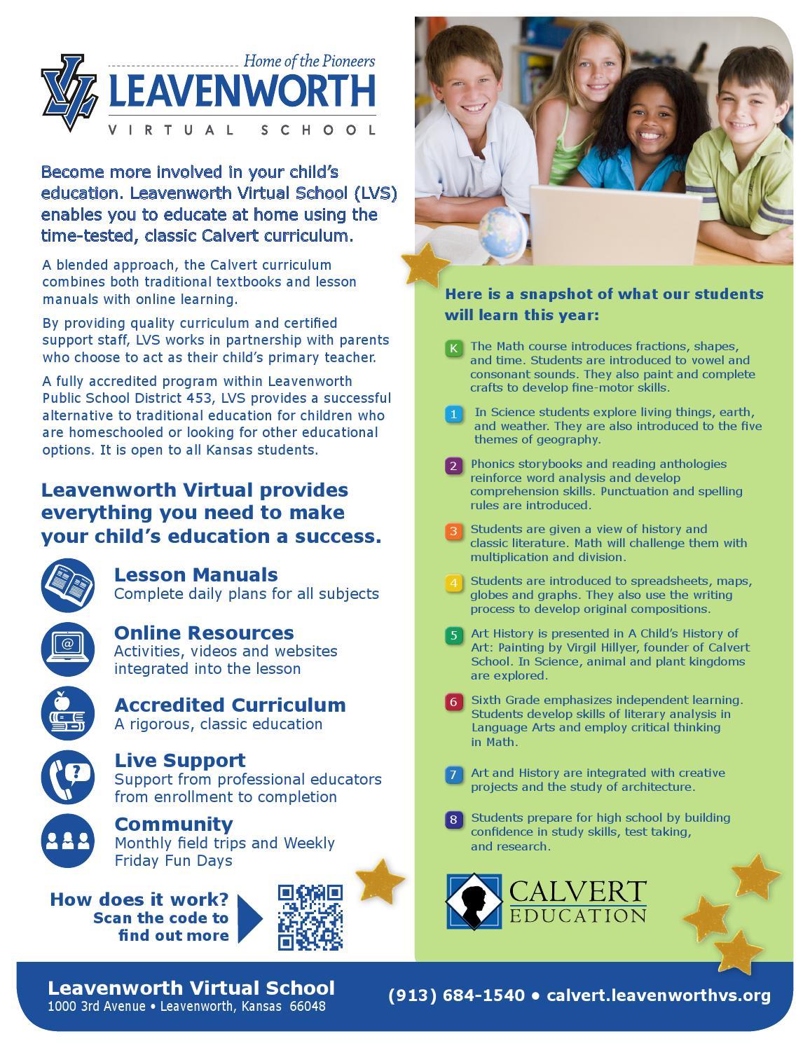 Leavenworth Virtual School Quick Facts By Calvert Education Services
