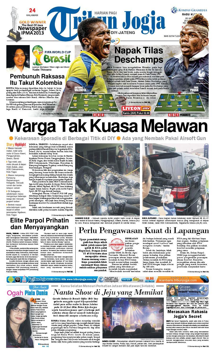 Tribunjogja 25 06 2014 By Tribun Jogja Issuu Produk Ukm Bumn Tenun Pagatan Kemeja Pria Biru Kapal