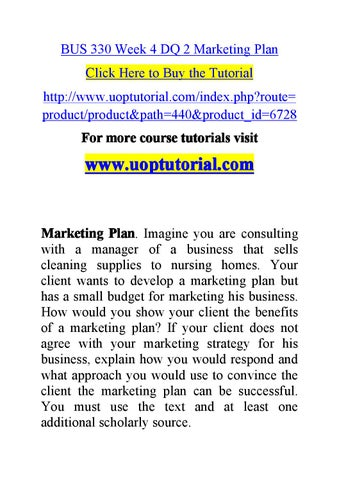 week 4 marketing plan final Mkt 441 week 4 market research implementation plan final plan write a 525- to 700-word market research implementation plan based on the scenario you selected in your week 2 learning team assignment: market research implementation plan: problem identification and project outline.