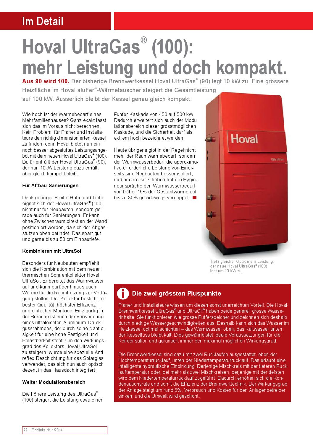einblicke 1 2014 by hoval issuu. Black Bedroom Furniture Sets. Home Design Ideas
