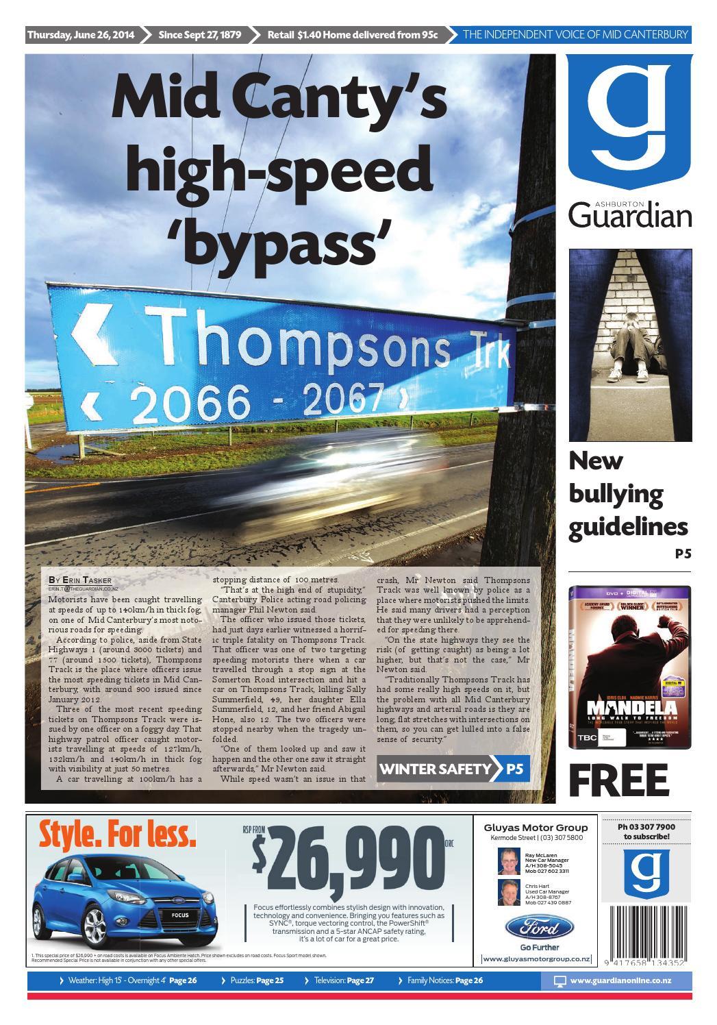 Ag 26 june, 2014 by Ashburton Guardian - issuu