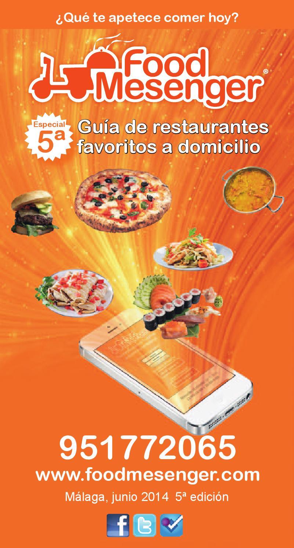 Guia food mesenger de restaurantes a domicilio 2014 2015 for Guia telefonica malaga