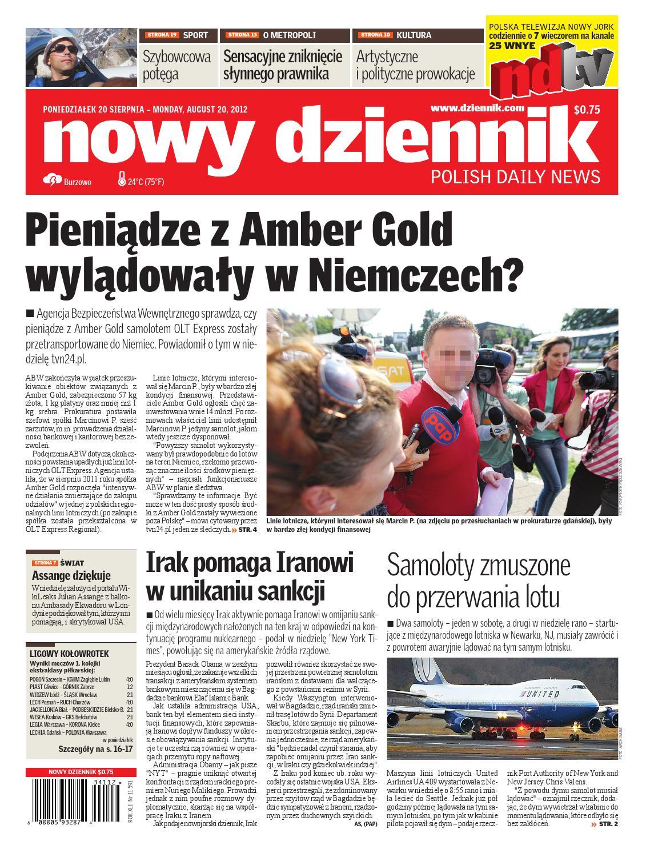 Nowy Dziennik 2012/08/20 by Nowy Dziennik - issuu