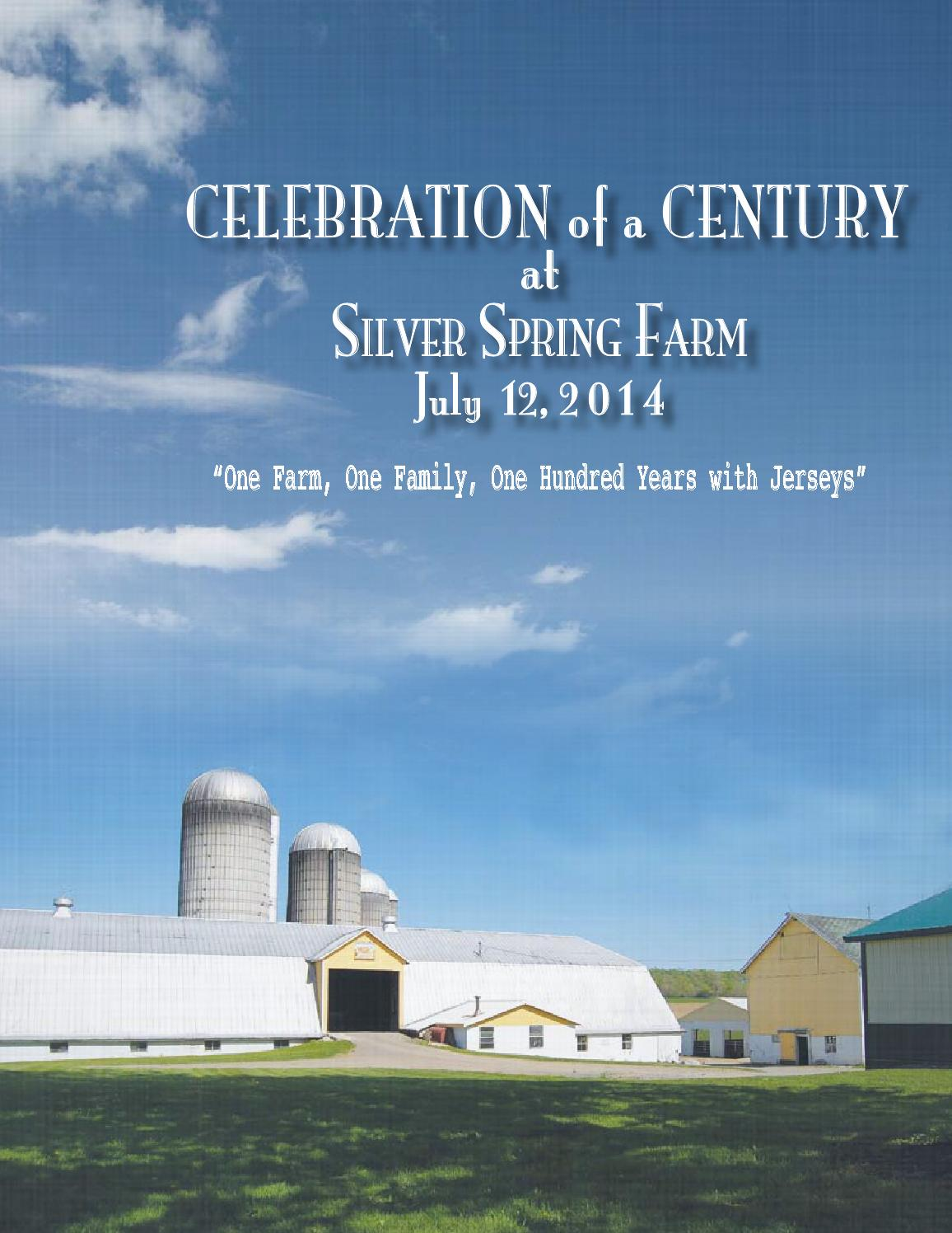 Celebration of a Century Sale-Silver Spring Farm by Dairy