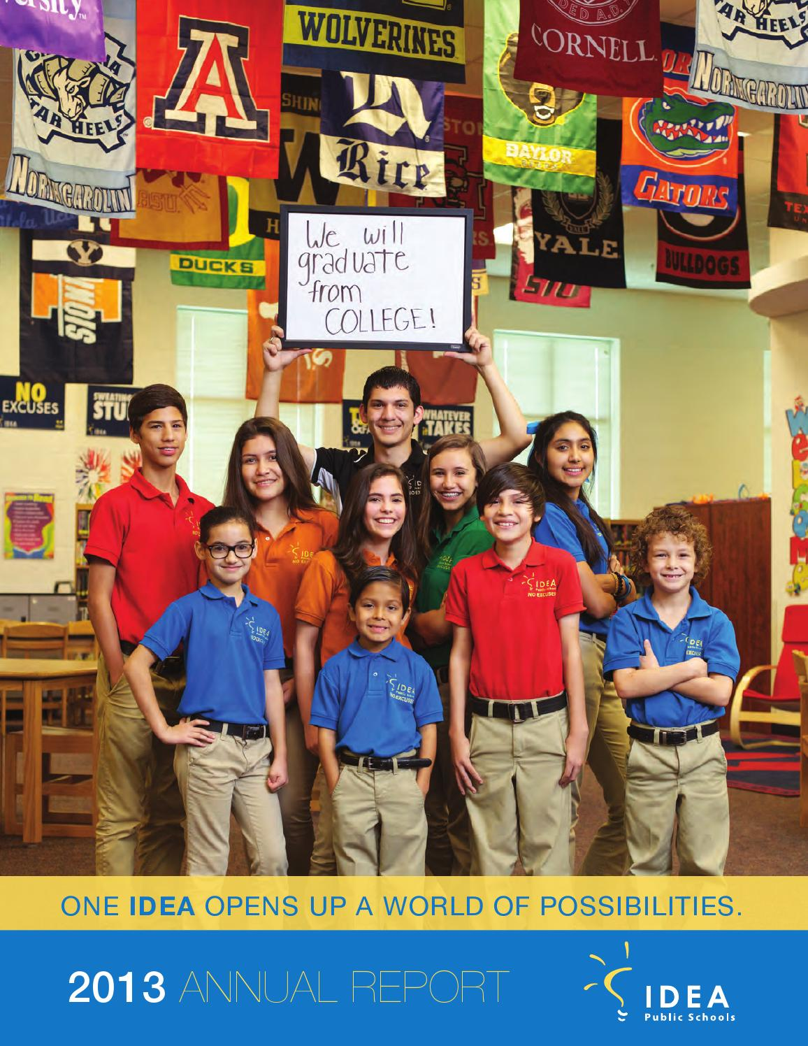 idea public schools 2013 annual report by soloshoe communications