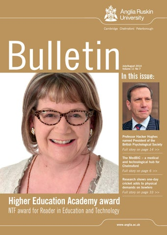 5d267be8a92 July August 2014 - Bulletin vol 11 no 7 by Anglia Ruskin University ...