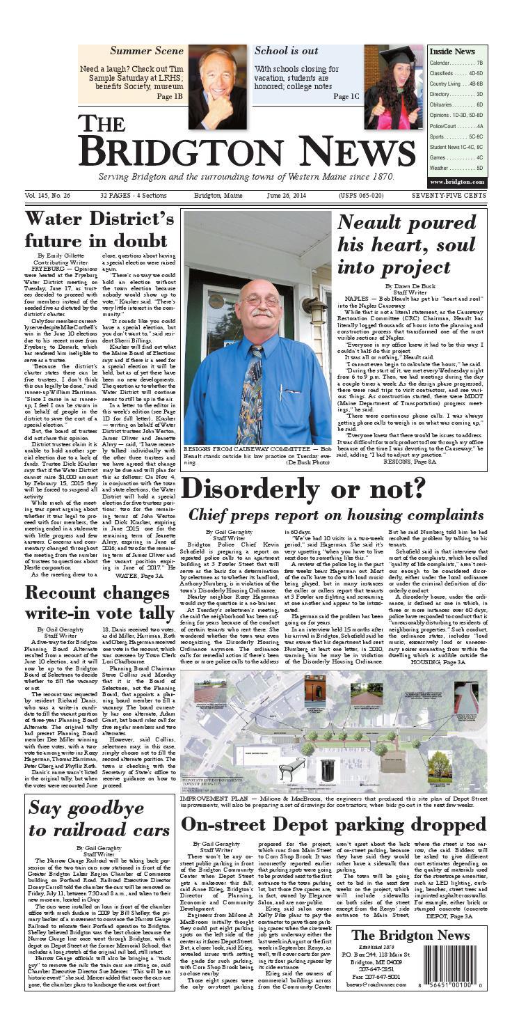 Bn26 062614 by Bridgton News - issuu