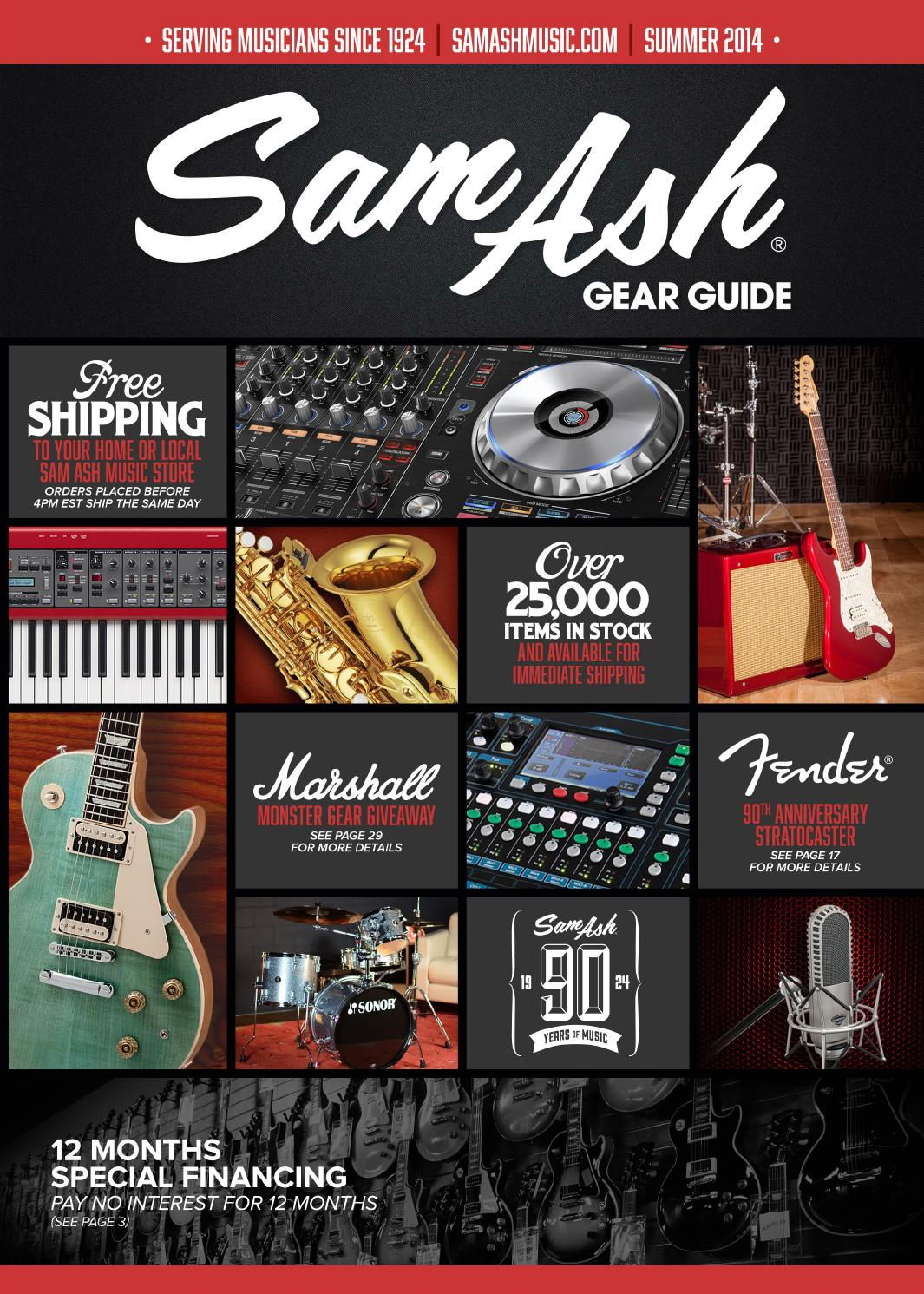 Summer 2014 Sam Ash Gearguide By Music Corp Issuu Premium Vintage Pre Wired Es 335 Wiring Harness Kit Cts Jensen Caps