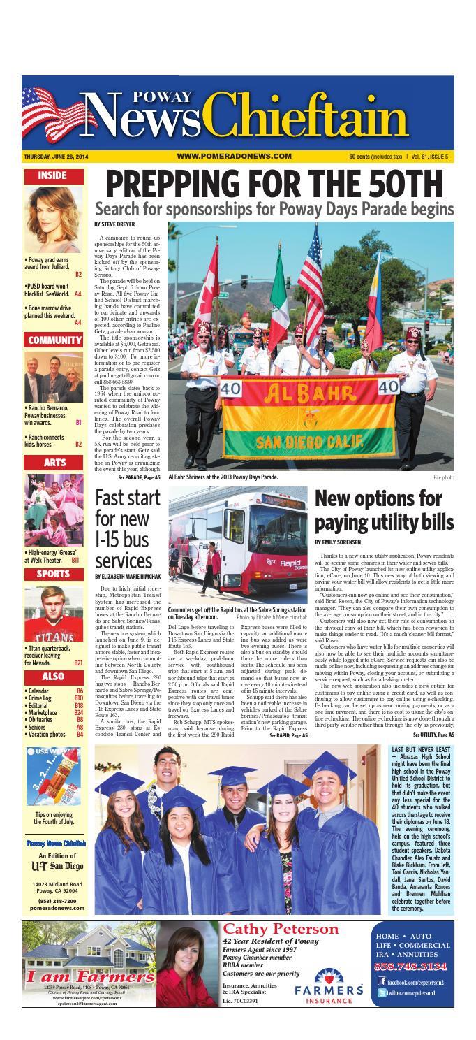 Amaranta Ruiz Xxx poway news chieftain 06 26 14mainstreet media - issuu