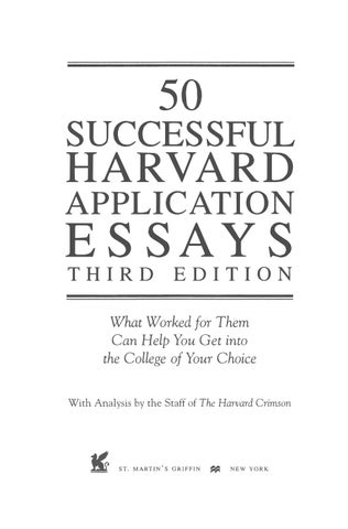 preview successful harvard application essays by tusachduhoc  page 1 50 successful harvard application essays third