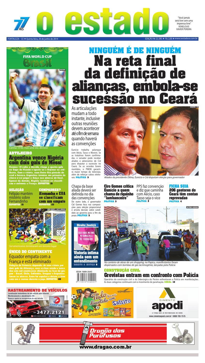 Edição 22285 - 26 de junho de 2014 by Jornal O Estado (Ceará) - issuu 95859833484aa