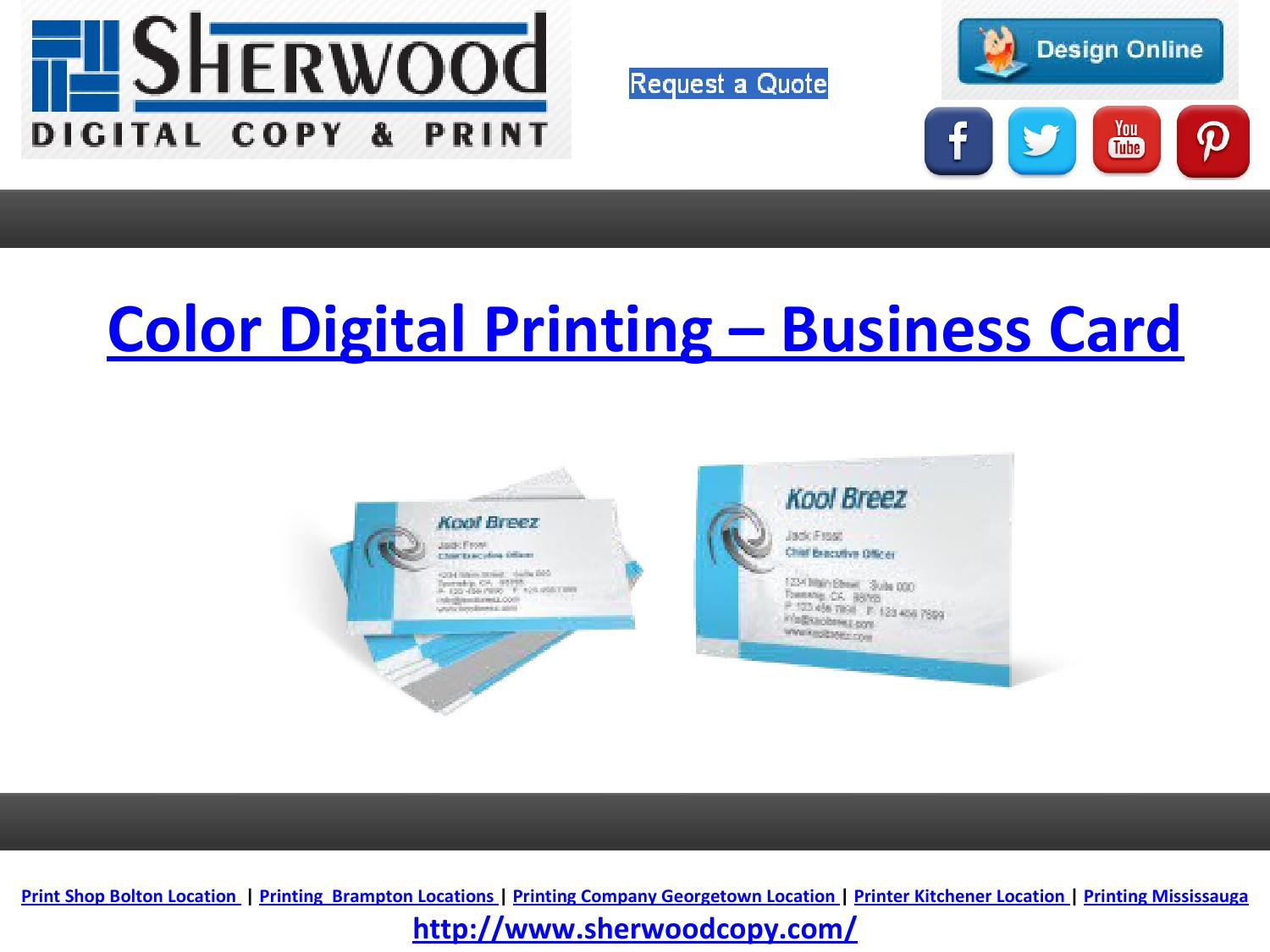 Awesome business card printing brampton gallery business card color digital printing business card print shop bolton location reheart Images