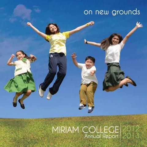 Miriam College Annual Report 2012-2013 by Miriam College - issuu