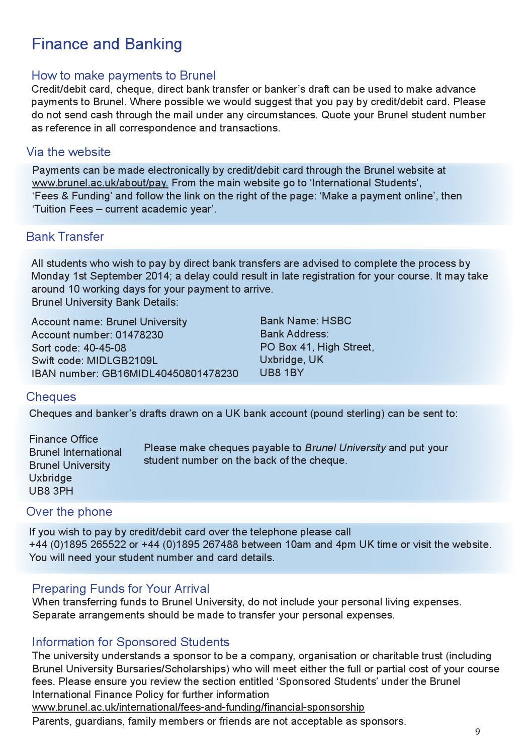 Brunel International Prearrival Guide By Brunel University London Issuu