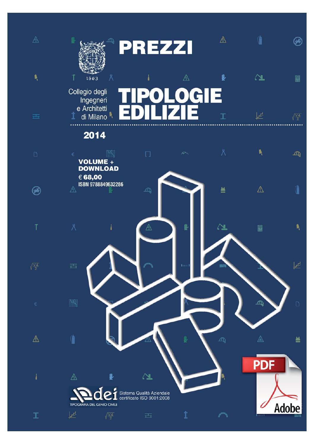 Prezzo Del Ferro Per Edilizia prezzi tipologie edilizie 2014 by dei tipografia del genio