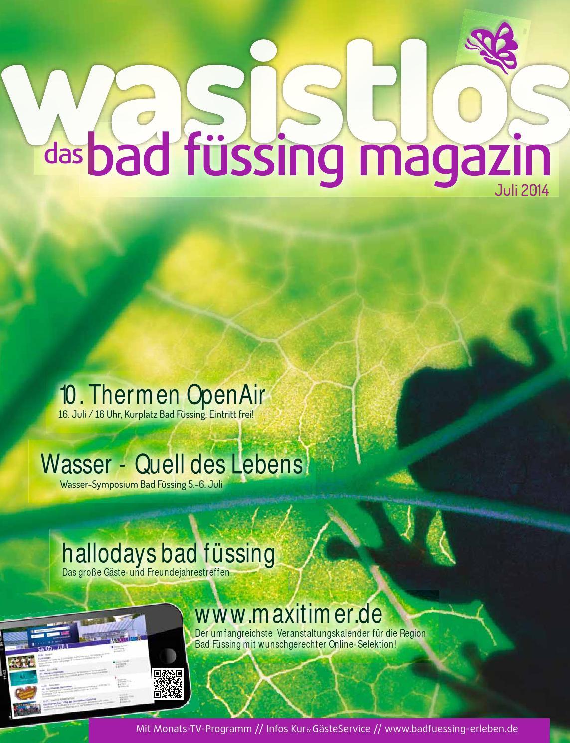 Bad Füssing Magazin - wasistlos - aktuell Bad Füssing erleben Juli ...