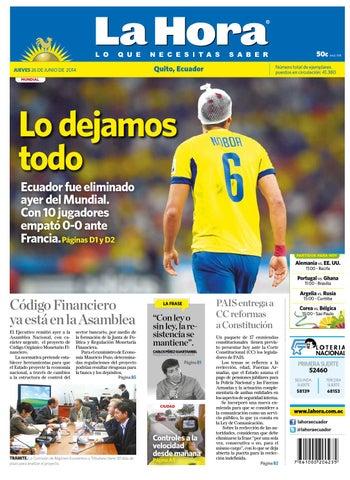 Quito 17 junio 2014 by Diario La Hora Ecuador - issuu 4877e527393