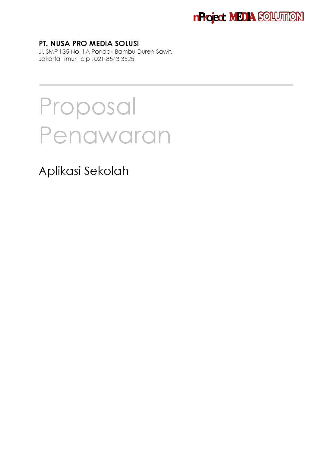 Proposal Aplikasi Sekolah By Muhamad Nuryadi Issuu