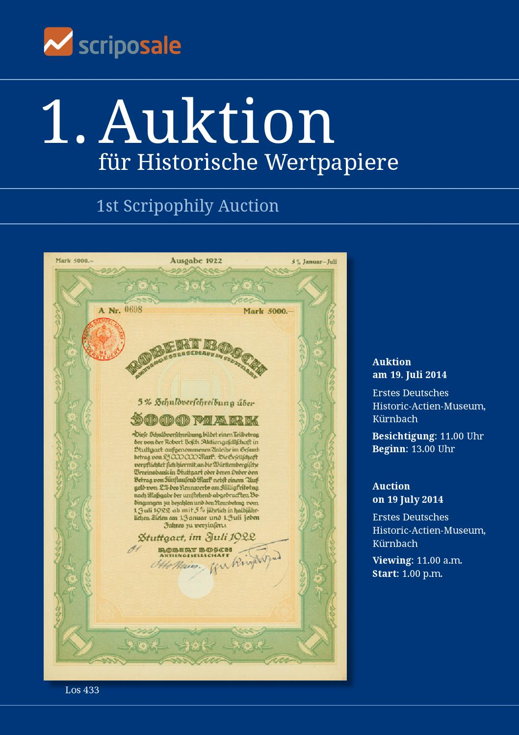 Scriposale 1. Auktion / 1st Auction by Scripozine - issuu
