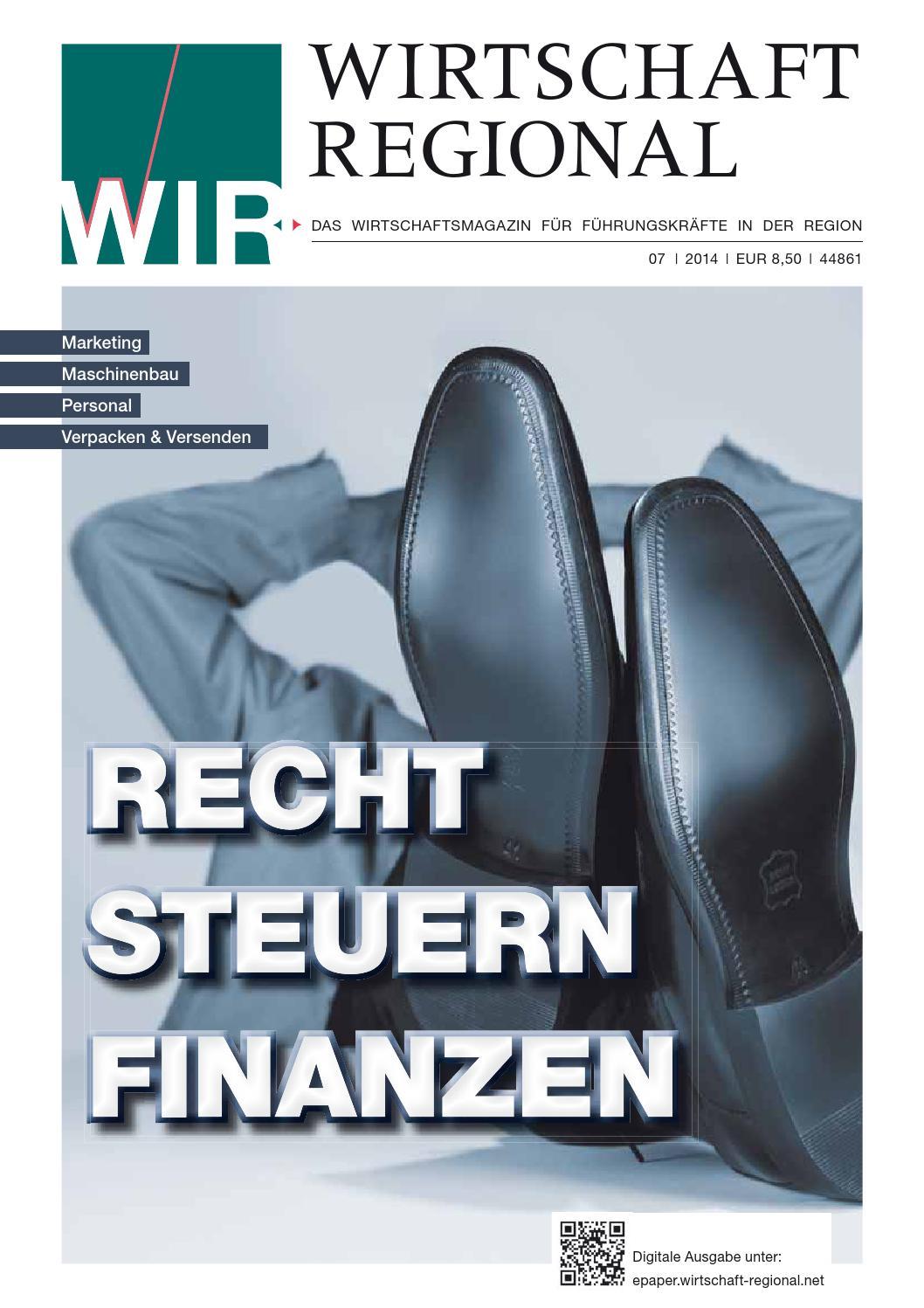 WIR   Wirtschaft Regional 07/2014 by Press Medien GmbH & Co. KG - issuu