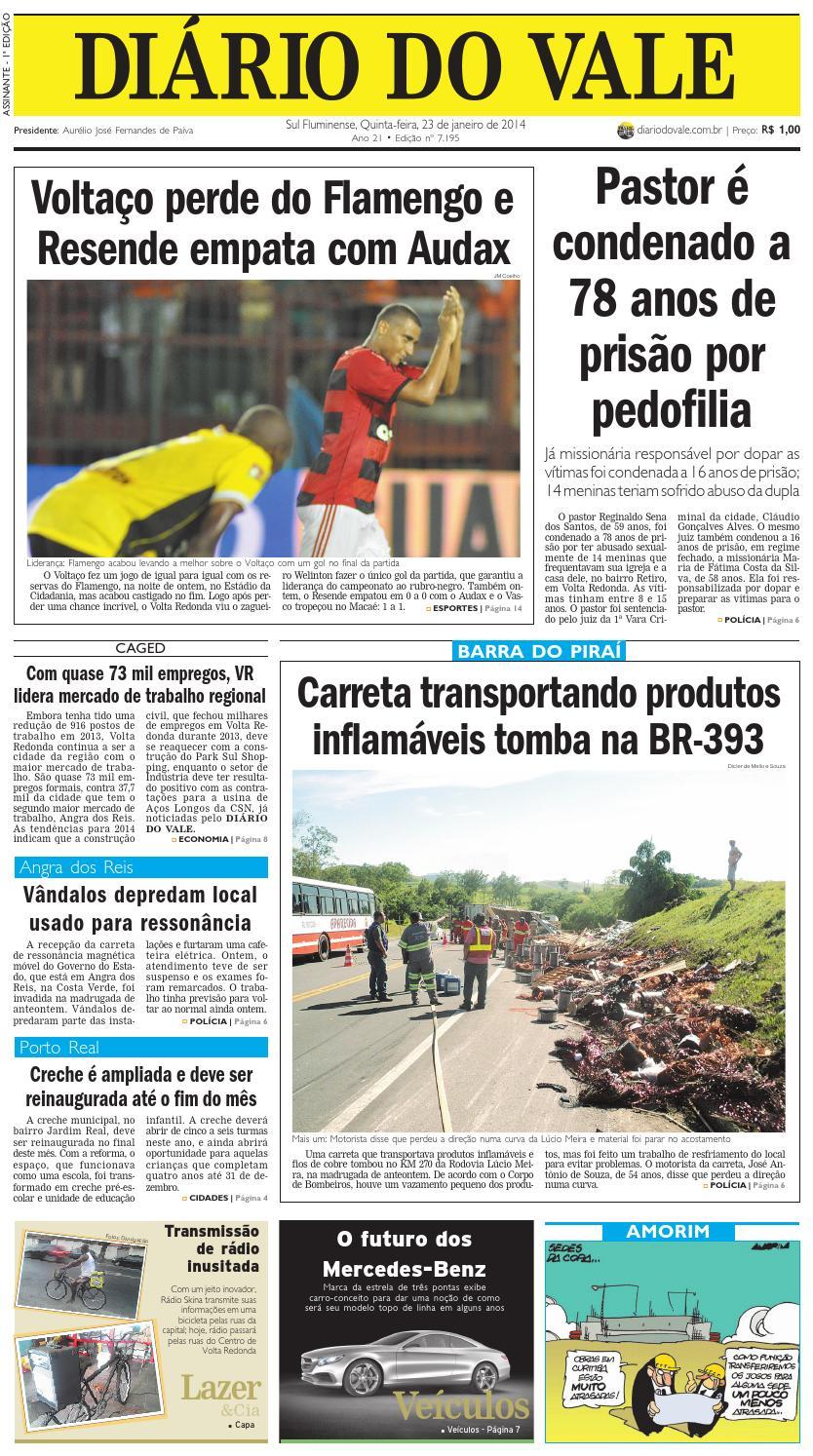7195 diario quinta feira 23 01 2014 by Diário do Vale - issuu bd627b4831b79
