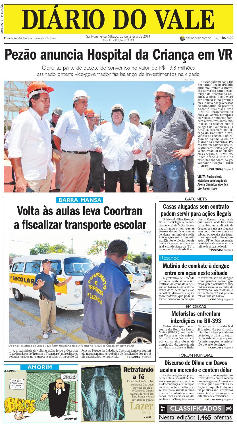 7197 diario sábado 25 01 2014 by Diário do Vale - issuu cd6b6078ecc