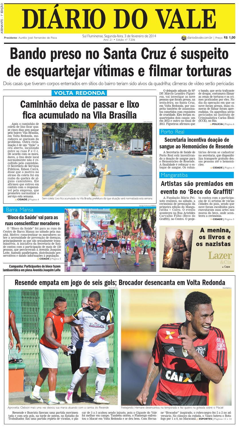 7206 diario segunda 03 02 2014 by Diário do Vale - issuu 7f3eb7b0c2c9c