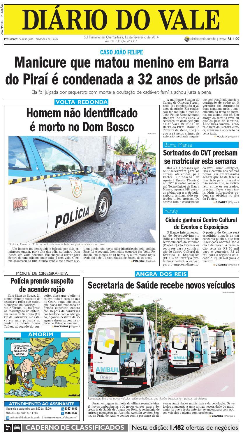 a8d3d7dd369 7216 diario quinta feira 13 02 2014 by Diário do Vale - issuu