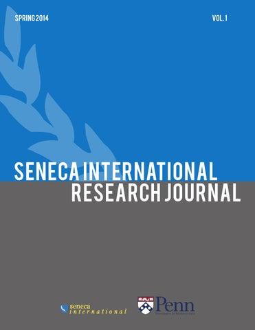 Seneca International Research Journal By Seneca International Issuu