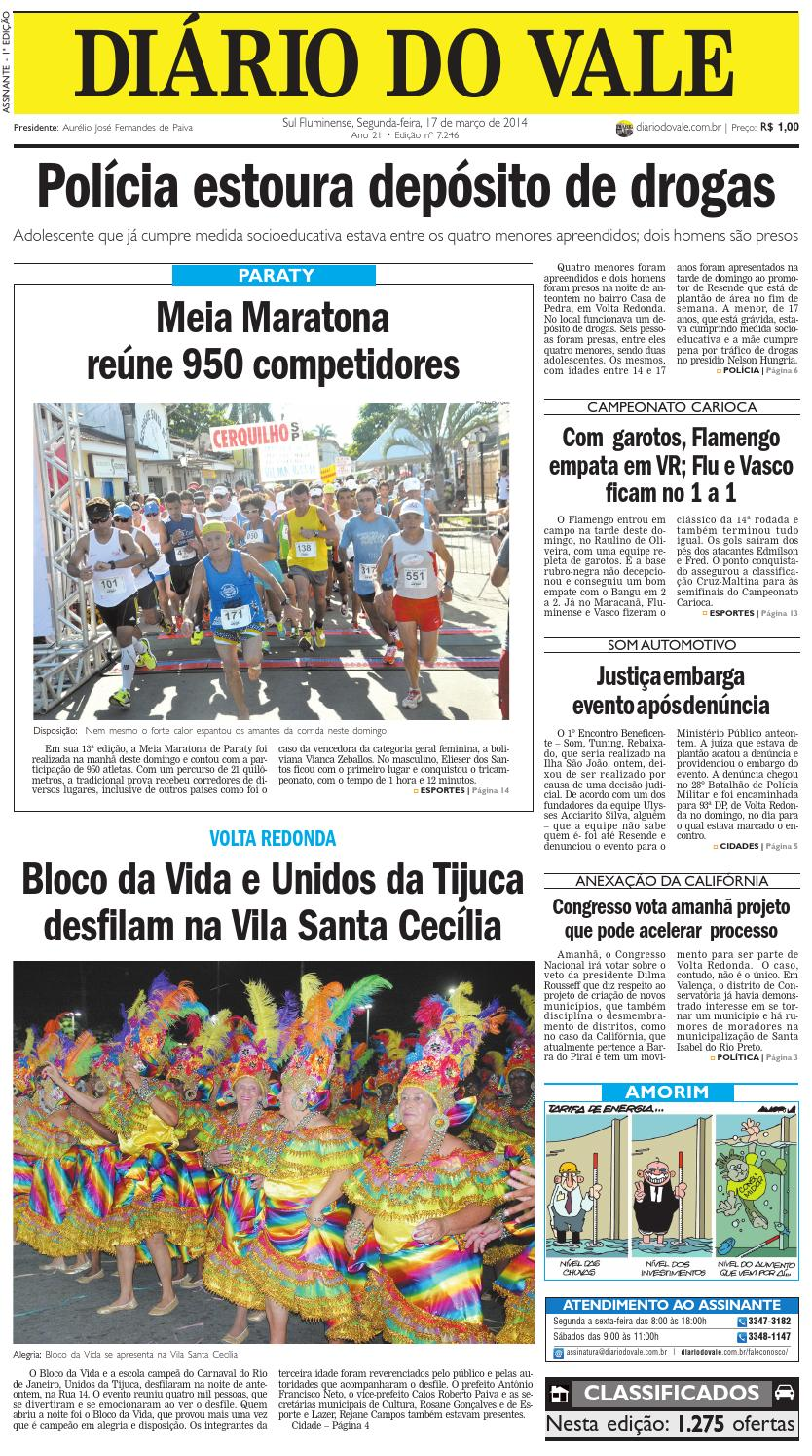 30da65f623 7246 diario segunda feira 17 03 2014 by Diário do Vale - issuu
