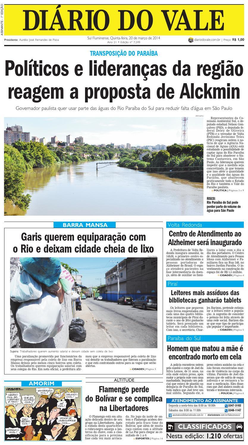 7249 diario do vale quinta feira 20 03 2014 by Diário do Vale - issuu afa0329732776