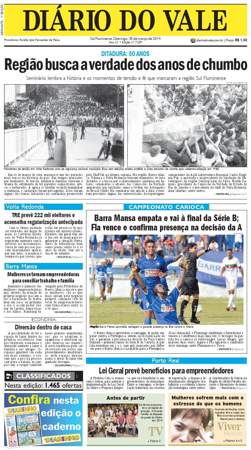 67c8f266b1 7259 diario domingo 30 03 2014 by Diário do Vale - issuu