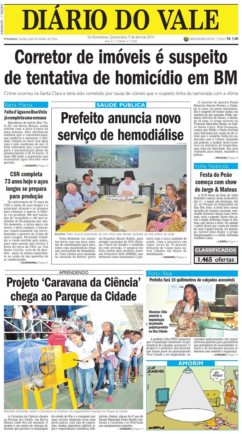 cbc6cf033c029 7269 diario quarta feira 09 04 2014 by Diário do Vale - issuu