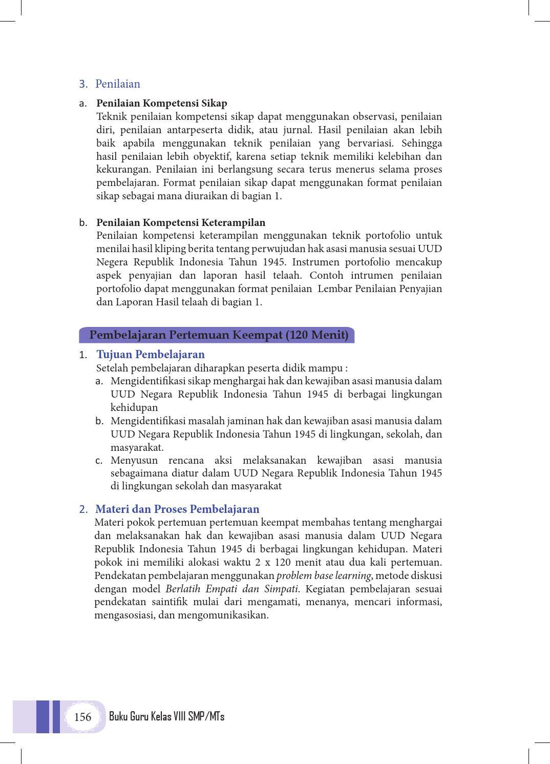 Ppkn Kelas 8 Kurikulum 2013 Buku Pegangan Guru By Endar