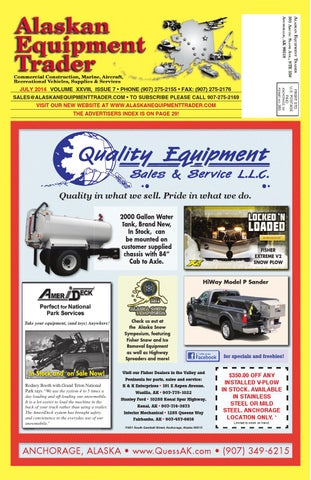 Alaskan equipment trader july 2014 by morris media network issuu page 1 fandeluxe Choice Image