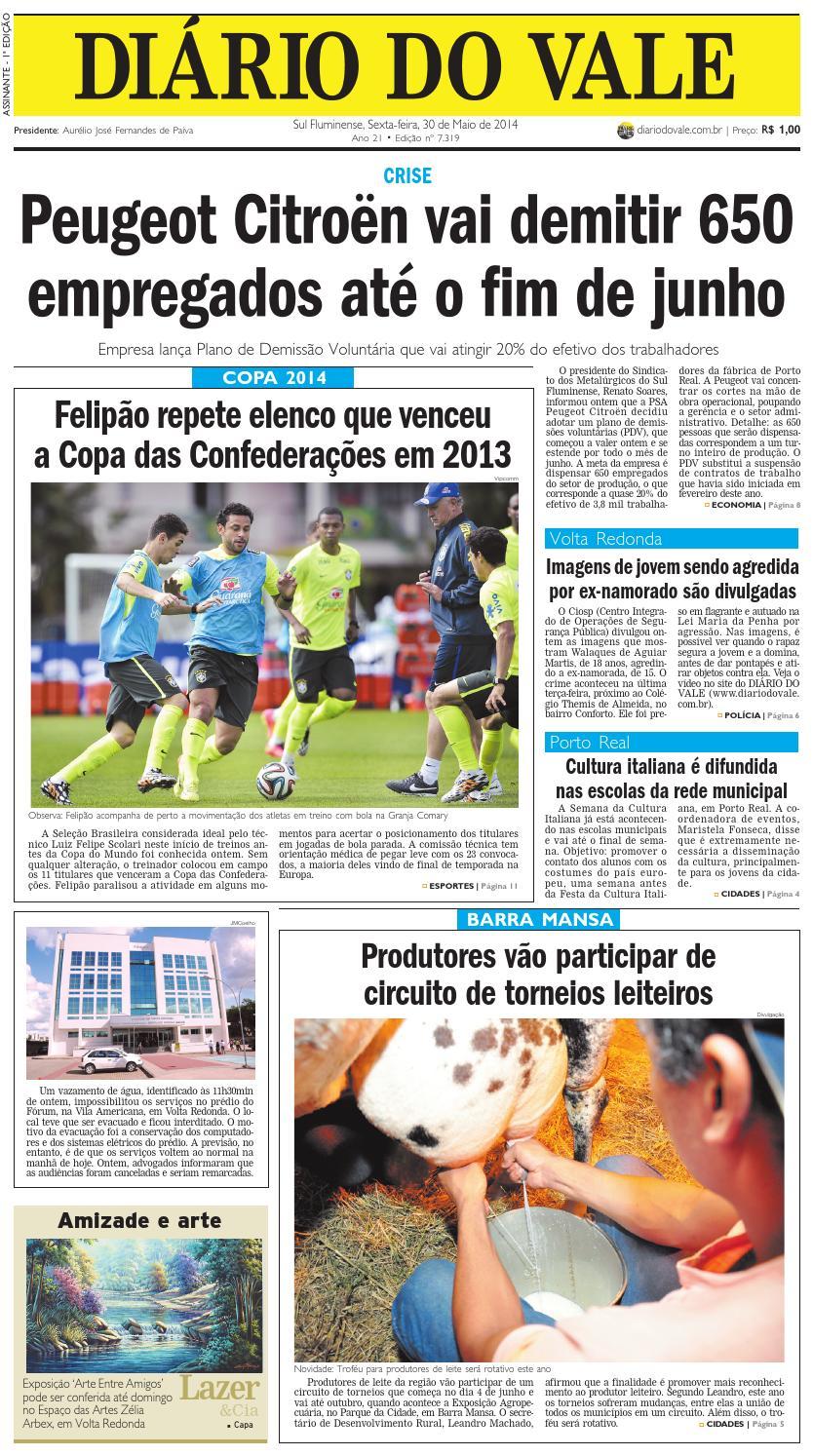 7319 diario sexta feira 30 05 2014 by Diário do Vale - issuu 495fdb254eb53