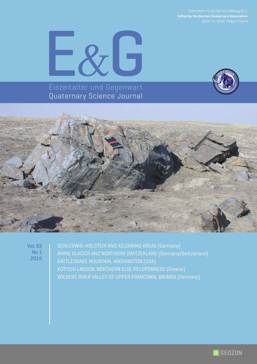E&G – Quaternary Science Journal - Vol. 63 No 1 by Geozon ...