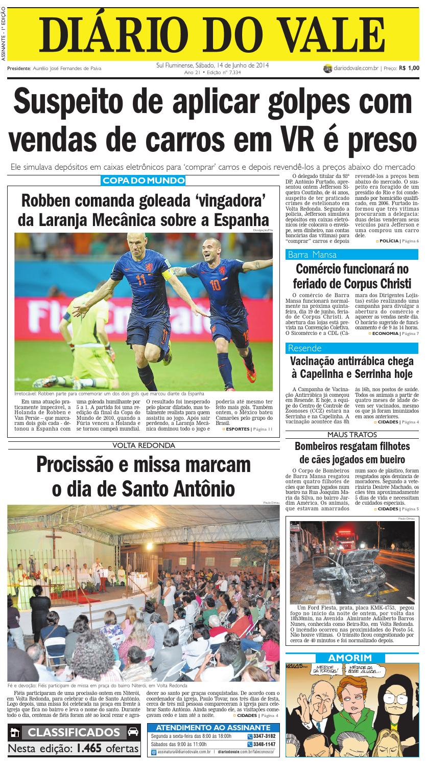 46b34bd1c6 7334 diario sabado 14 06 2014 by Diário do Vale - issuu