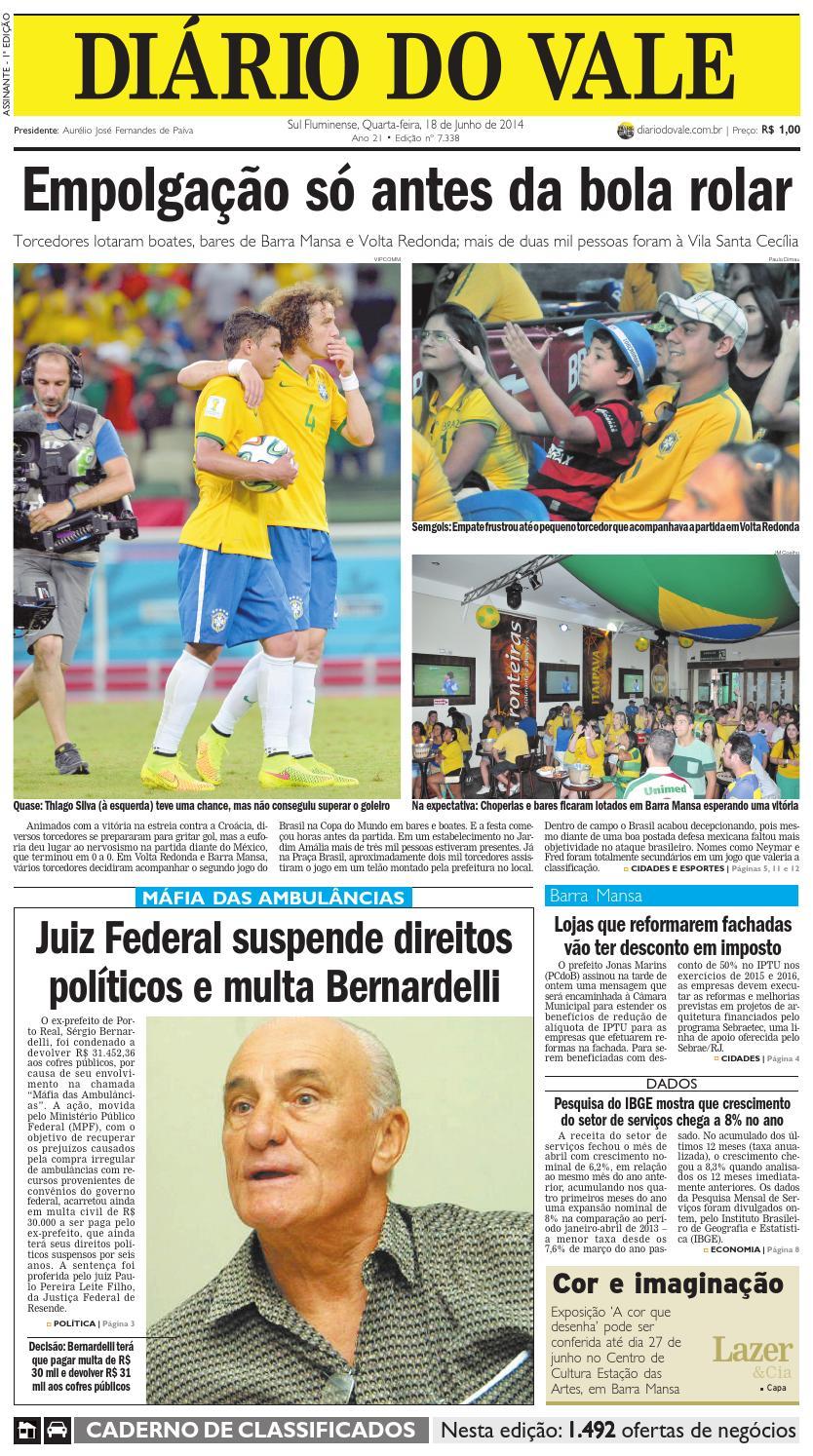 7338 diario quarta feira 18 06 2014 by Diário do Vale - issuu 664192c7ce