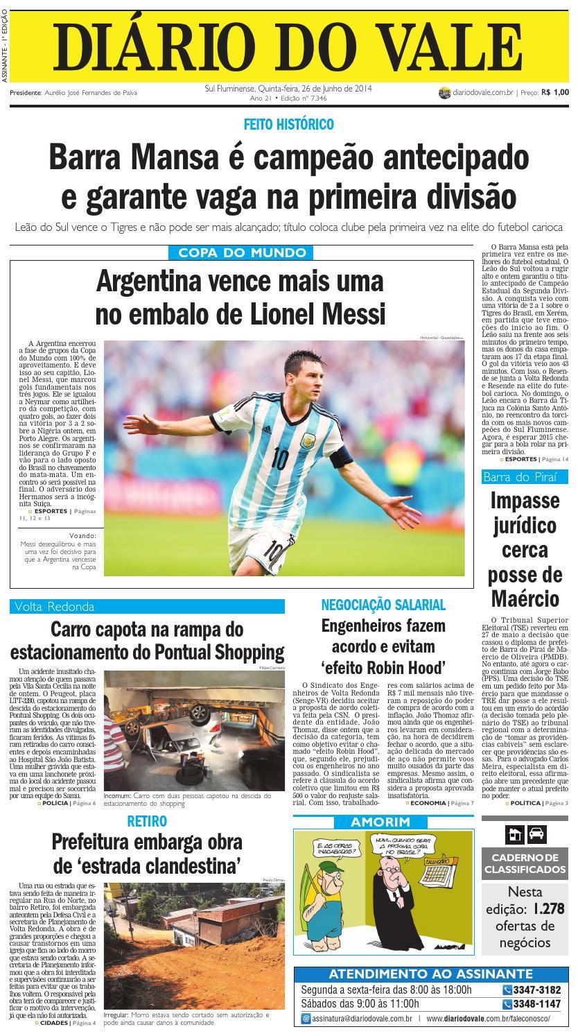 c462e74eaa 7346 diario do vale quinta feira 26 06 2014 by Diário do Vale - issuu