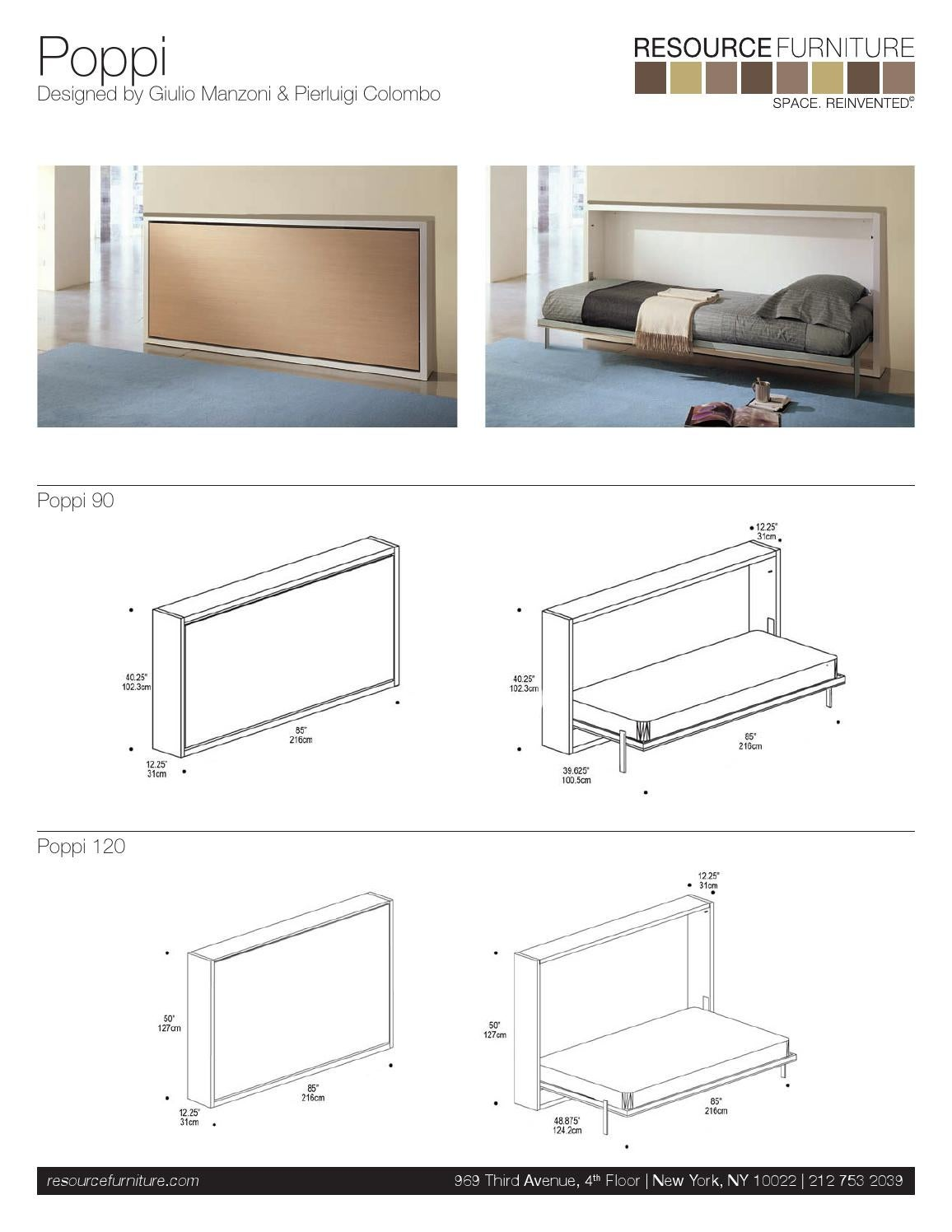 Poppi specs and dimensions by resource furniture issuu for 120 east 16th street 4th floor new york ny 10003