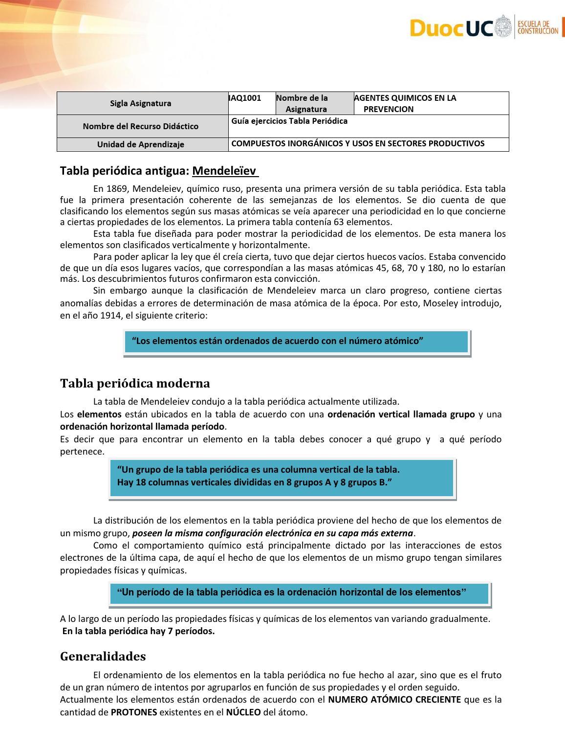 2 1 3 guia ejercicios tabla periodica by ricardo riquelme issuu urtaz Gallery