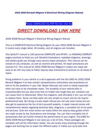 page 1  2002-2008 renault m�gane ii electrical wiring diagram manual