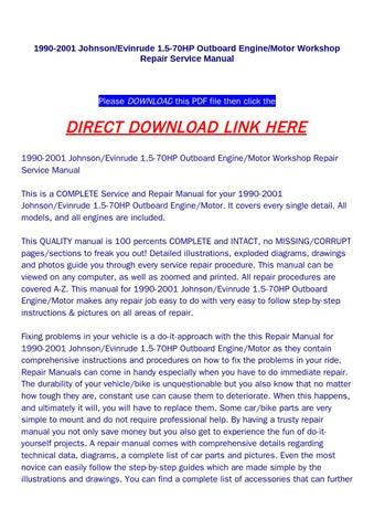 johnson 15hp outboard workshop manual pdf