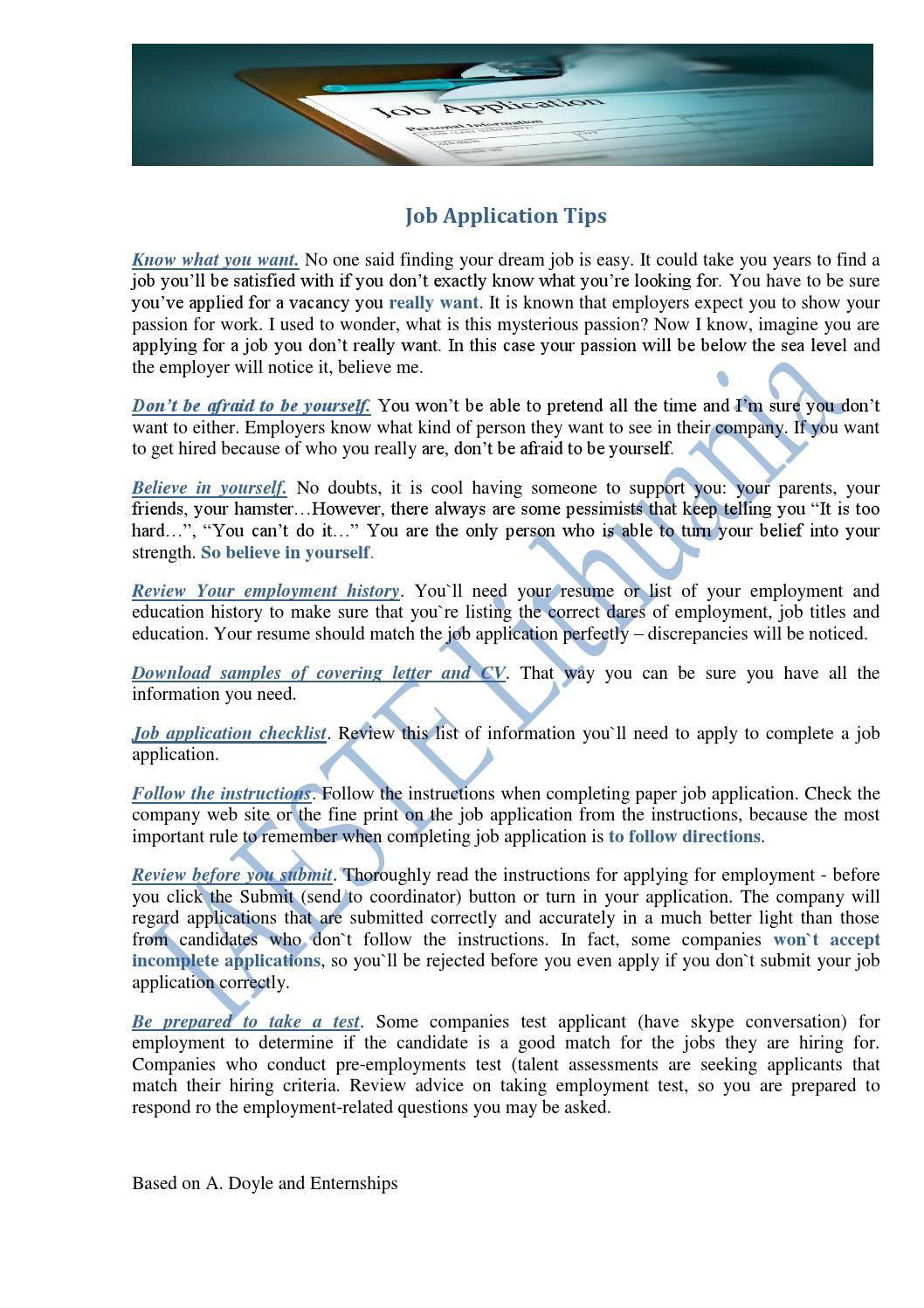 job application match