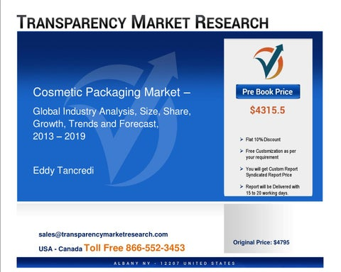 Cosmetic Packaging Market Report - Global Trends and Forecasts to