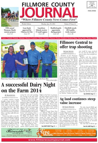 Fillmore County Journal 6 30 14 by Jason Sethre - issuu